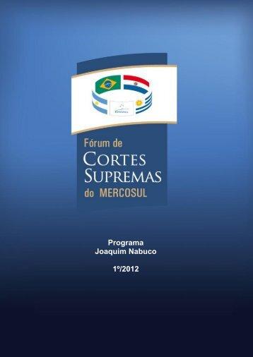 Programa Joaquim Nabuco 1º/2012 - STF