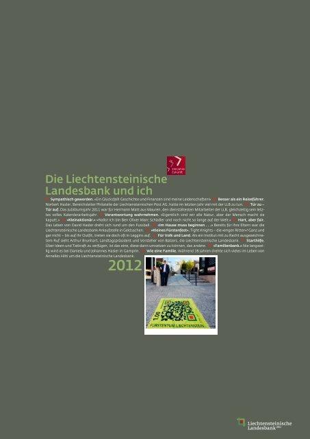 Die Liechtensteinische Landesbank und ich
