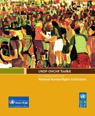 National Human Rights Institutions UNDP-OHCHR Toolkit