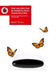 Snel van start met de Vodafone Thuis Interactieve Box - Internet ...