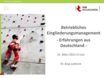 Betriebliches Eingliederungsmanagement - Erfahrungen aus ...