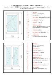 Listino prezzi modello BASIC DESIGN - E.Col.Chim