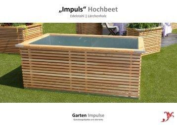 """Impuls"" Hochbeet - Garten Impulse"