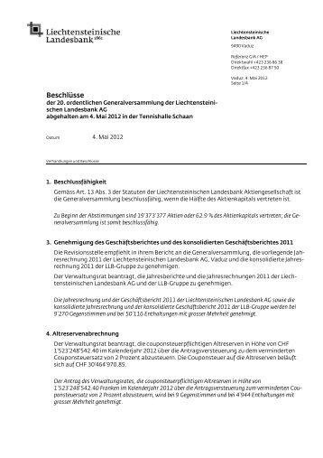 Beschlussprotokoll GV 20110504
