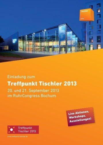 Info-Broschüre zum Treffpunkt Tischler 2013 - Tischler NRW