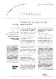 CSC SAP Nettoløn