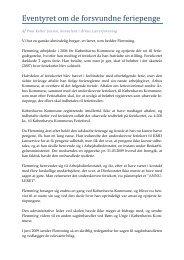 Af Poul Keller Jensen, konsulent i Århus Lærerforening Vi har en ...