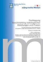 Fachtagung Benchmarking radiologischer Abteilungen und Praxen