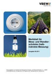 VBEW-Merkblatt für Mess- und Wandlerschränke (PDF) - E.ON Bayern