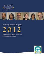 2012 Emory Healthcare Nursing Annual Report