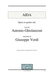 AIDA Antonio Ghislanzoni Giuseppe Verdi - Fulmini e Saette