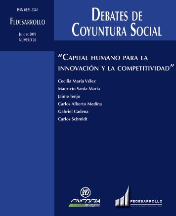 DEBATES DE COYUNTURA SOCIAL - Fedesarrollo