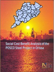 Social Cost Benefit Analysis of the POSCO Steel Project in Orissa