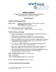Download the Detailed Program Now with YWP ... - Modeleau