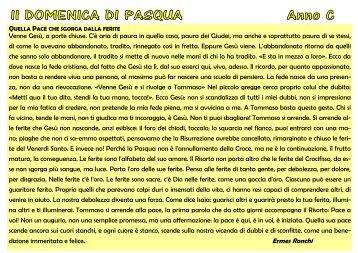II Domenica di Pasqua Anno C 7 Aprile 2013 - Novaradintorni.it