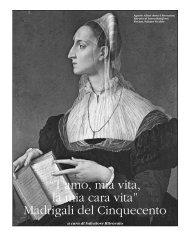 """""""T'amo, mia vita, la mia cara vita"""" Madrigali del Cinquecento - Poesia"""
