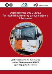Overenskomst 2010-2012 for rutebilchauffører og ... - Prinses.dk