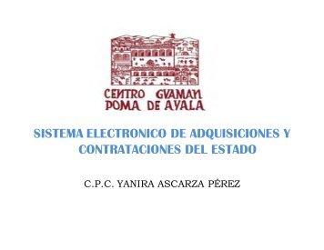 sistema electronico de adquisiciones y contrataciones del estado