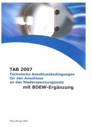 Techn. Anschlussbedingungen (TAB 2007) - Stadtwerke Bad Nauheim