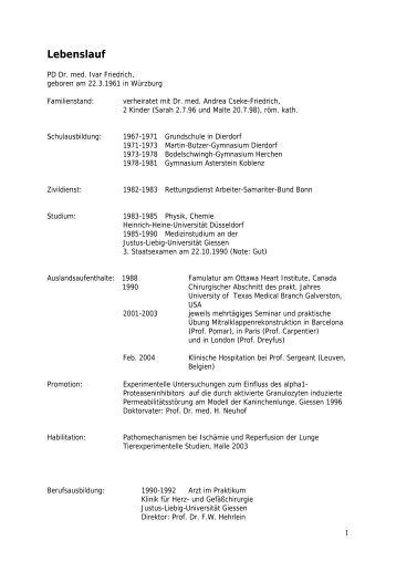 lebenslauf medizinische fakultt martin luther universitt halle - Martin Luther Lebenslauf