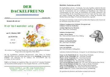 Der Dackelfreund - Nr. 4/2009 - Teckelklub Wiesbaden/ Mainz