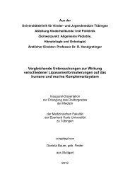 Vergleichende Untersuchungen zur Wirkung verschiedener ...