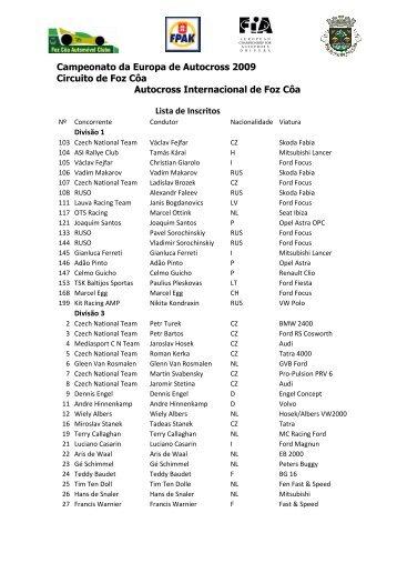 Campeonato da Europa de Autocross 2009 Circuito de Foz Côa ...