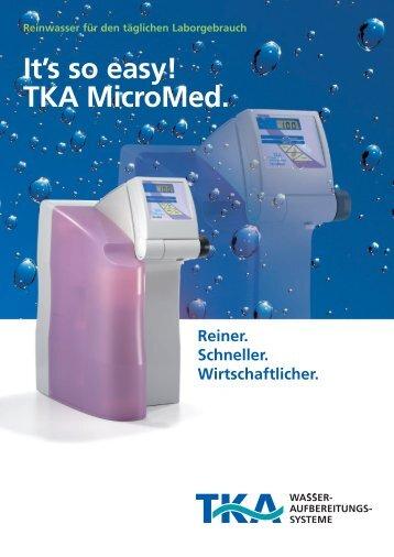 It's so easy! TKA MicroMed. - tka.de
