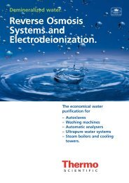Downloadcatalog TKA Reverse osmosis systems - Thermo Scientific ...