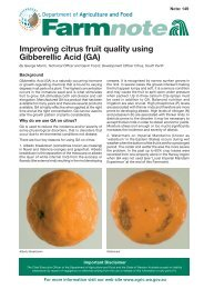 Improving citrus fruit quality using gibberellic acid - Department of ...