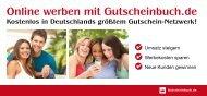 Online werben mit Gutscheinbuch.de Kostenlos in Deutschlands ...