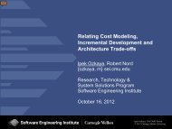 Relating Cost Modeling, Incremental Development and Architecture ...