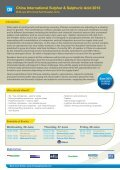 China International Sulphur & Sulphuric Acid 2013 - Page 2