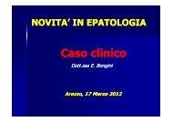 Caso clinico E. Bongini - Centro Francesco Redi