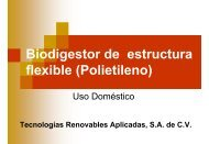 Biodigestor de estructura flexible (Polietileno)