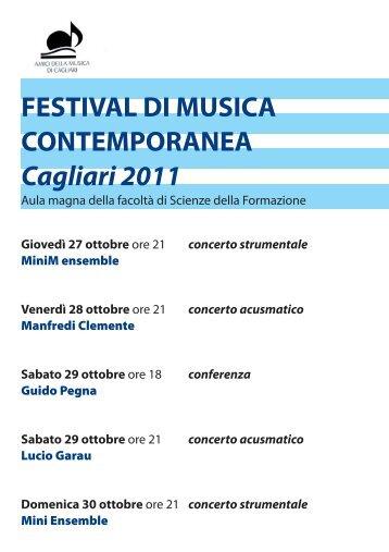libretto festival musica cont... - Eventi e Sagre