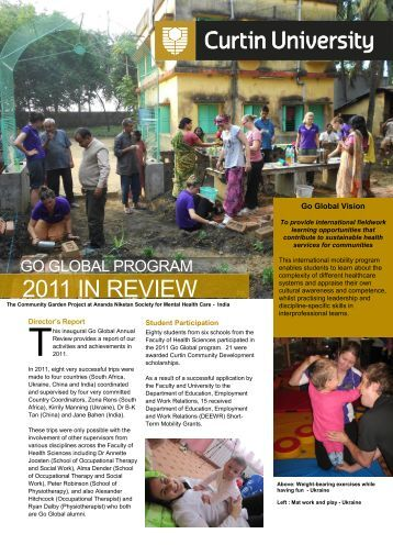 GoGlobal2011review.pdf [4 Mb] - Health Sciences - Curtin University