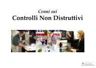 Cenni sui controlli non distruttivi - Dimeca
