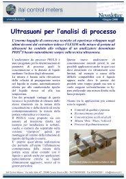 Ultrasuoni per l'analisi di processo - Ital Control Meters