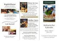 ansehen - bei den Günnewig Hotels und Restaurants