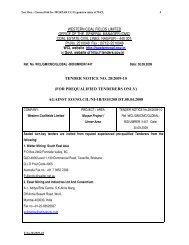 Ten. Doc.: General bid for MURPAR UG Expansion