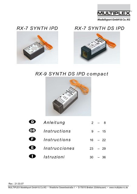 RX 7 SYNTH IPD DS 9
