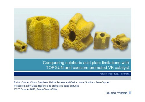 Conquering sulphuric acid plant limitations with TOPGUN and