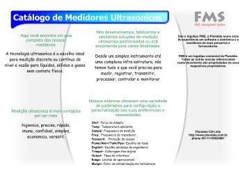 Catálogo de Medidores Ultrasonicos - Plandata