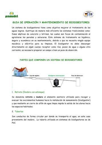 guia de operación y mantenimiento de biodigestores - PROMUDEL