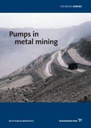 Pumps in metal mining - Grundfos