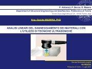 analisi lineari del danneggiamento dei materiali con l'utilizzo di ...