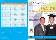 SAA-GE Outstanding Achievers Congratulations
