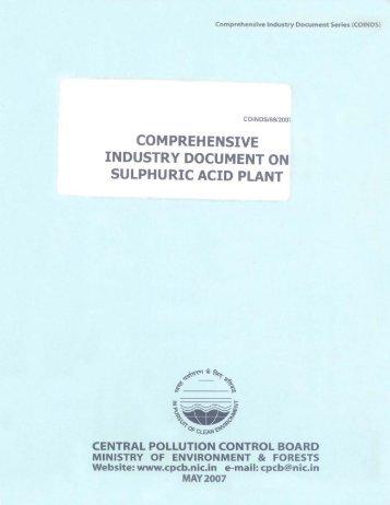 comprehensive industry document on sulphuric acid plant
