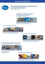 Produktkatalog Sicherheitstechnik für den Fachhandel www.rewo ...